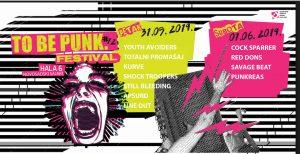 To Be Punk Festival #12 @ Novi Sad 31.5./1.6. @ Letnji bioskop Kulturnog centra Novi Sad, u Katoličkoj porti